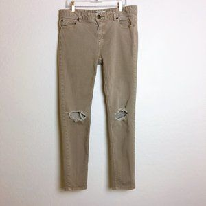Free People Skinny Jeans Busted Knees Size 29